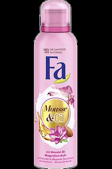 Fa Mousse & Oil Duschschaum mit mit Mandel-Öl und Magnolien-Duft