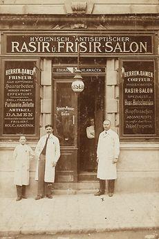 Frisier- und Rasiersalon Eduar Hlawacek, 1910