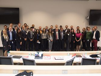 Students and Henkel leaders at the fall 2018 case competition that Nishant helped to organize.