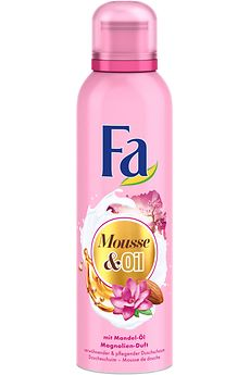 Fa Mousse & Oil Duschschaum mit Mandel-Öl und Magnolien-Duft