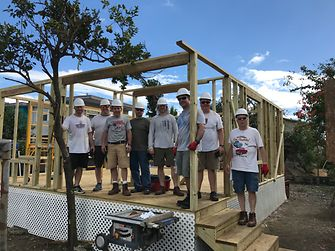 Employees from Henkel's Adhesives Technologies volunteered to support recovery efforts following Hurricane Maria. One of their projects was rebuilding a home in Sabana Grande, Puerto Rico.