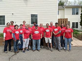 Employees from Henkel's Bridgewater, NJ facility supported Anderson House by helping with painting and landscaping as well as organizing workshops on healthy relaxation techniques.