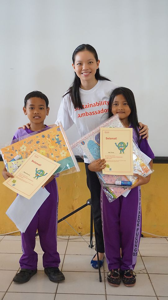 The students were certified as Sustainability Champions after completing Henkel's Sustainability Ambassador School Outreach program.