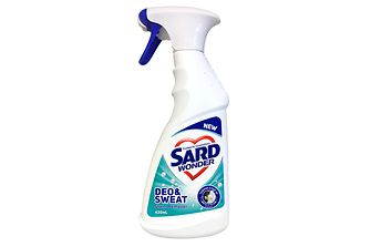 Sard Deo & Sweat stain remover spray is specially formulated to remove stains on clothing caused by deodorant and sweat.