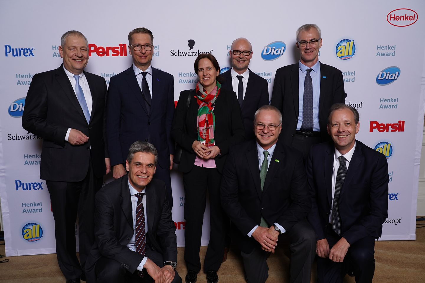 Best Innovation Contributor Award Laundry & Home Care / BASF (runner-up): back: Thomas Müller-Kirschbaum, Ralph Schweens, Anja Winkler, Arndt Scheidgen, Torsten Wieprecht; front: Sören Hildebrandt, Andrés Jaffé, Thomas Holenia