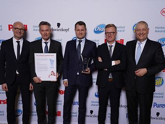 Best Innovation Contributor Award Laundry & Home Care / Novozymes (winner): Arndt Scheidgen, Ole Kirk, Tue Micheelsen, Anders Lund, Thomas Müller-Kirschbaum