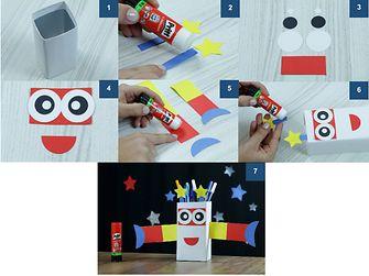 Robô Porta-lápis passo a passo
