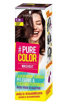 #Pure Color Washout Erdbeer-Schokobraun