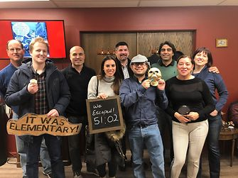 Together, Veronica and her team were able to escape the escape room in December 2018