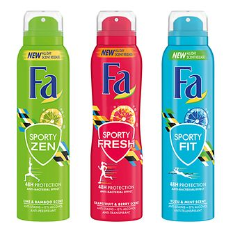 Fa Sporty Fit Aerospray Anti-Transpirants Zen, Fresh und Fit