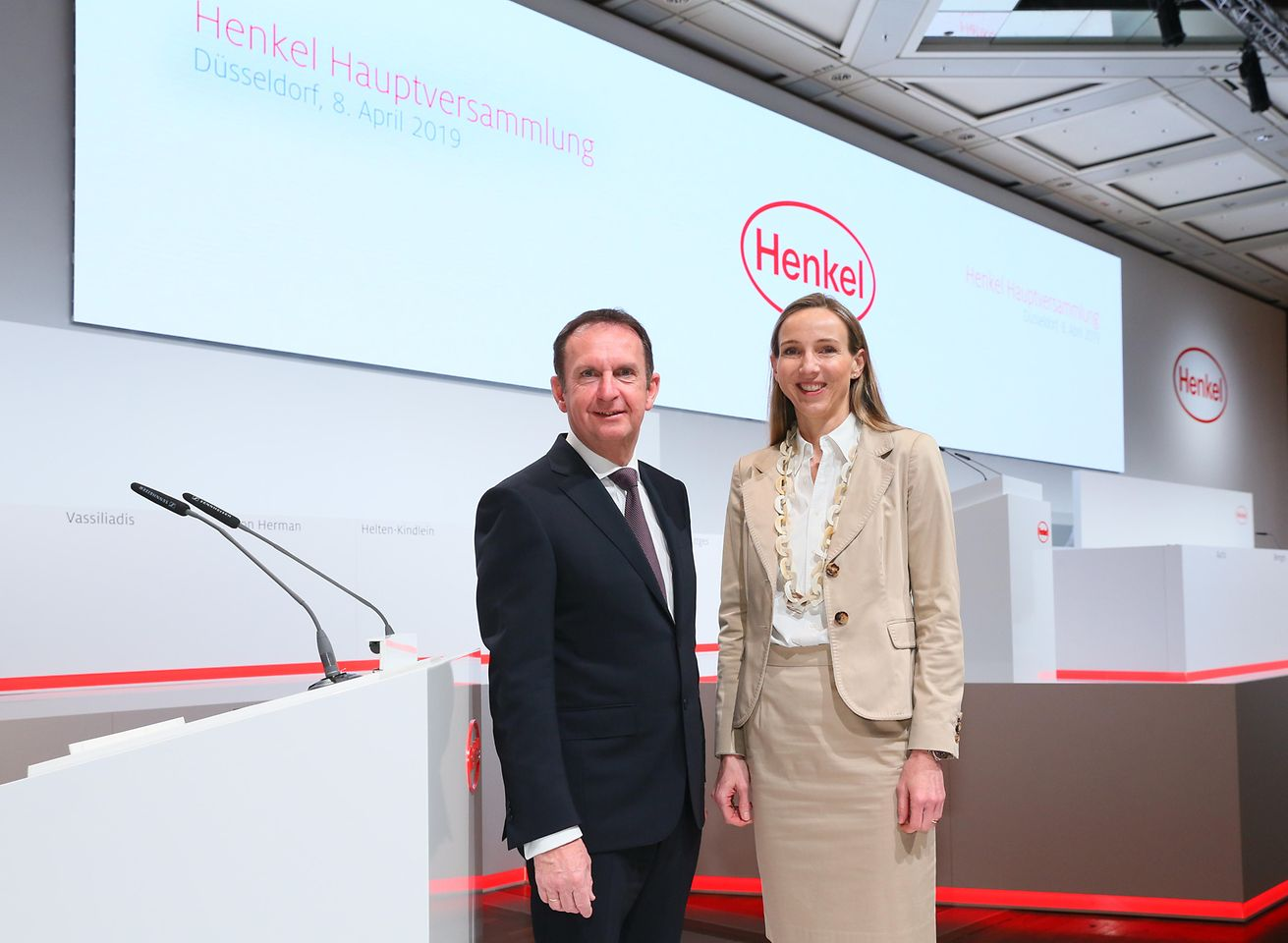 Henkel CEO Hans Van Bylen and Dr. Simone Bagel-Trah, Chairwoman of the Shareholders' Committee and Supervisory Board