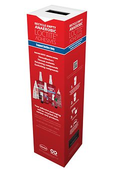 Henkel's customers with 3D printing operations are provided with a recycling box where used containers of UV curable 3D resins and Cyanoacrylate-base adhesives are placed and later recycled by TerraCycle.