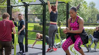 Several people's training activities in Hemel Hempstead's Right Guard AEROCYCLE gym in Gadebridge Park