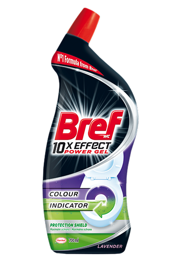 In May, Henkel introduces the new recyclable material for black bottles of the toilet cleaning product Bref