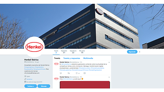 Perfil de Twitter de Henkel Ibérica