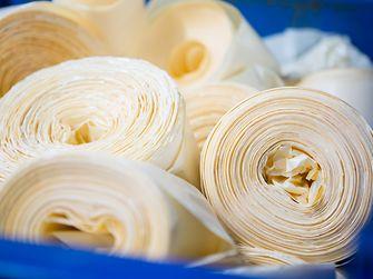 Bobine di carta siliconata da riciclare