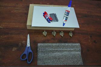 Mesinha decorativa materiais
