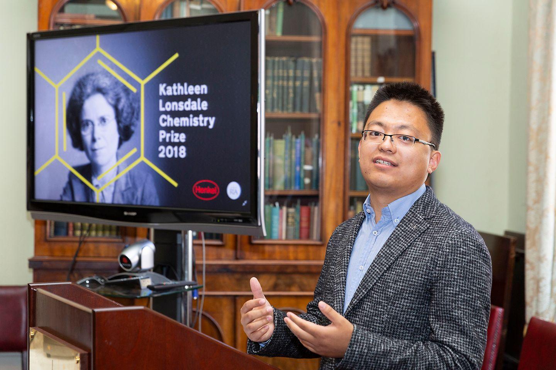 Royal Irish Academy's Kathleen Lonsdale Award winner, Dr Xinxin Xiao