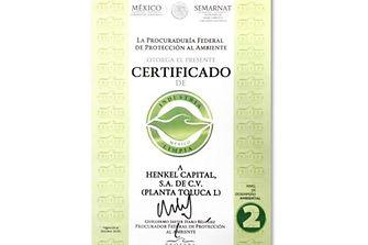 Certificación otorgado por la PROFEPA