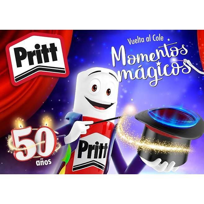 Pritt celebra su 50 aniversario con una colección especial, divertida y mágica para la vuelta al cole.