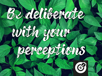 Be deliberate with your perceptions