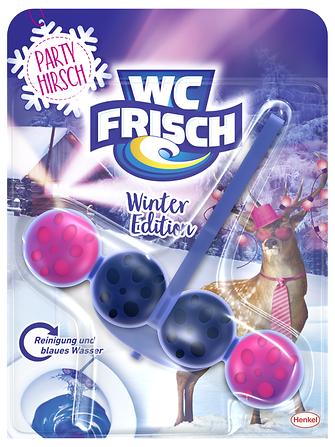 """Die limitierte WC Frisch Winter-Edition in der Variante """"Party Hirsch"""""""