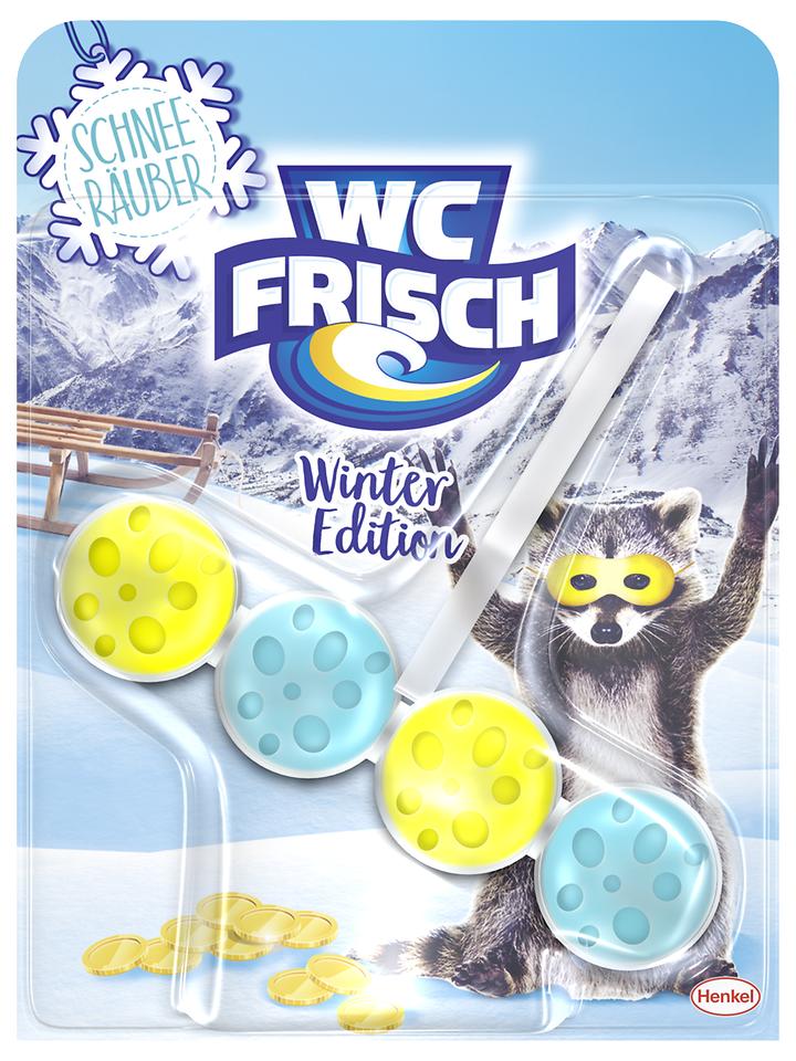 """Die limitierte WC Frisch Winter-Edition in der Variante """"Schnee Räuber"""""""