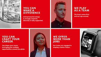 The campaign focuses on Henkel's value as an employer.