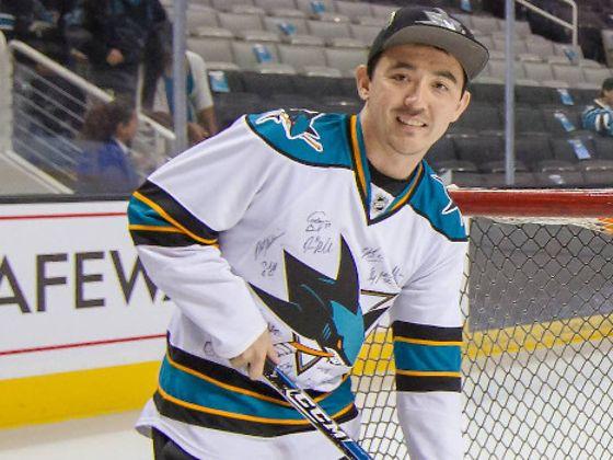 Christopher Blackburn playing ice hockey