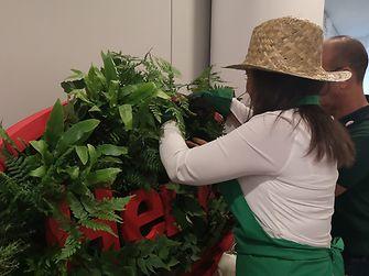 Os funcionários da Henkel Ibérica criaram um jardim vertical solidário