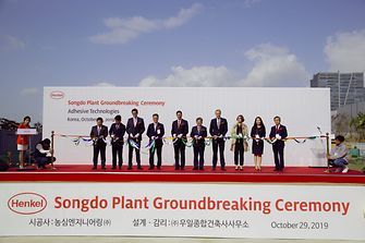 Groundbreaking ceremony of the new high-tech facility in Songdo