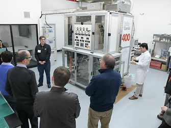 Henkel staff provided tours of the new Technical Center of Excellence focused on our flexible packaging applications.  This investment included a laminator and retort chamber for flexible packaging development.